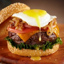 Hamburger and egg photograph