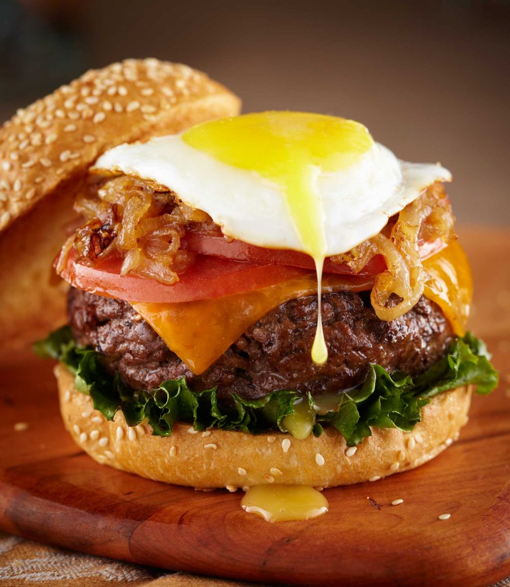 Hamburger and egg photograph