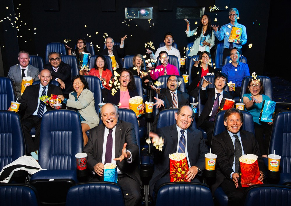 Group photo of Cineplex executives